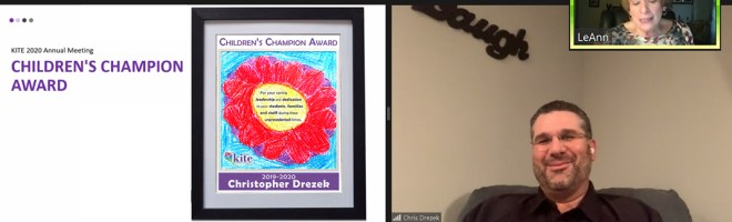 KITE Presents Christopher Drezek with the 2020 Children's Champion Award