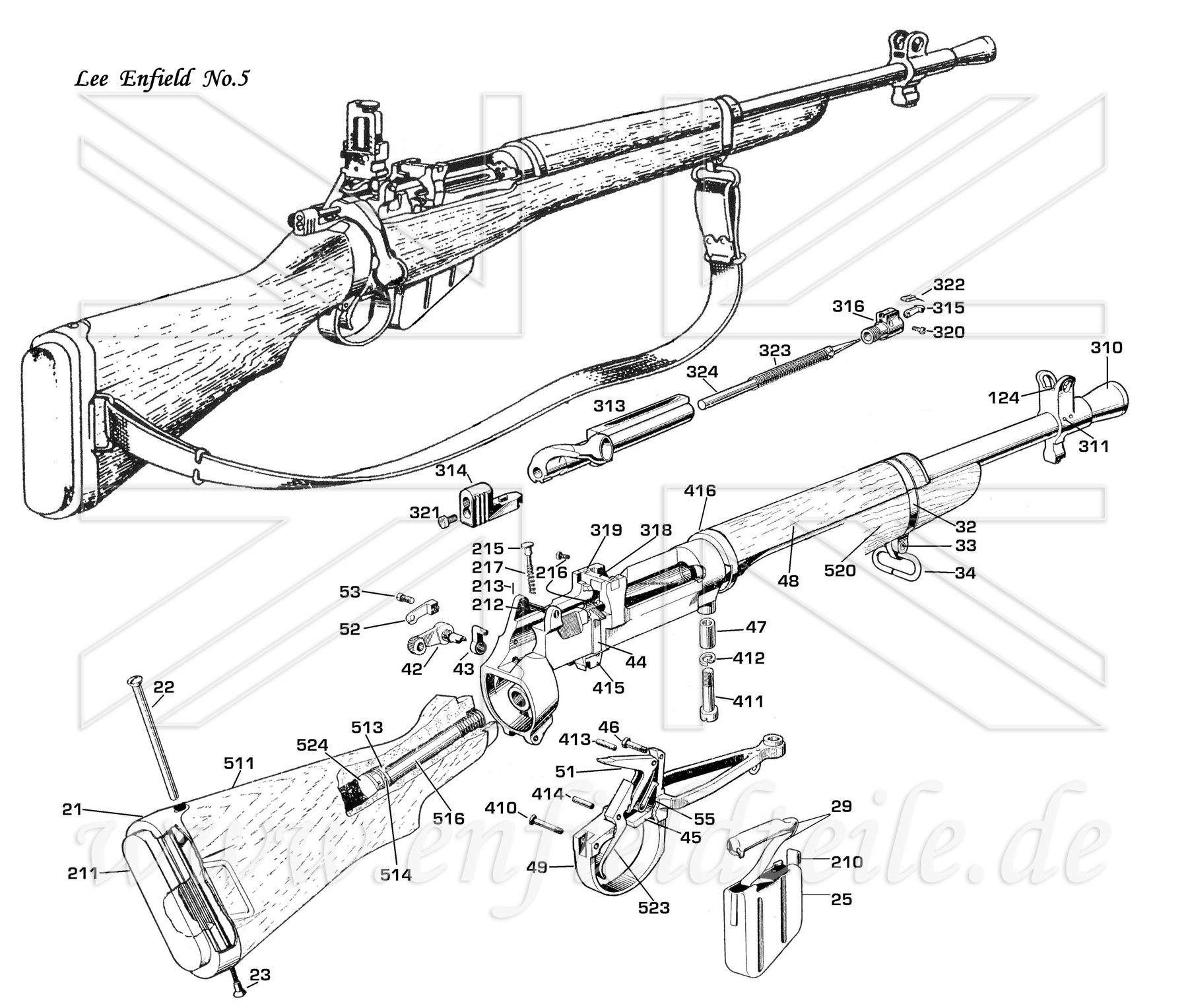 Lee Enfield Parts