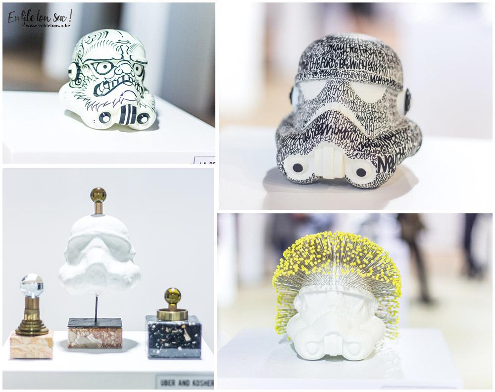 stormtroopers Star Wars Legion Belgique, quand les artistes belges réinterprètent le casque de Stormtrooper