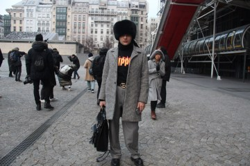 LOOK XXI: The Gucci belt ̵ Before the Vetements show at Centre Pompidou Paris