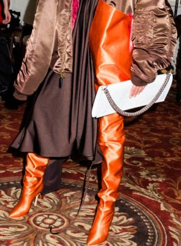 Vetements x Manolo Blahnik waist boots