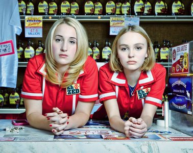 Lily-Rose Depp and Harley Quinn Smith in Yoga Hosers
