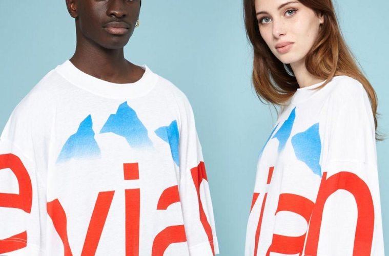 Evian oversize T-shirts