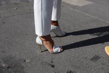 LOOK 39: White Heels - Street Style By Enfnts Terribles