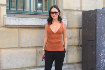 LOOK XLIII: Nicole Warne wearing Victoria Beckham Top in Paris