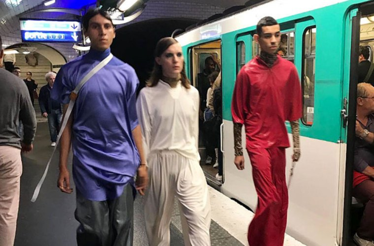 Dumitrascu SS18 Guerrilla Style Runway Took Place In A Metro Station