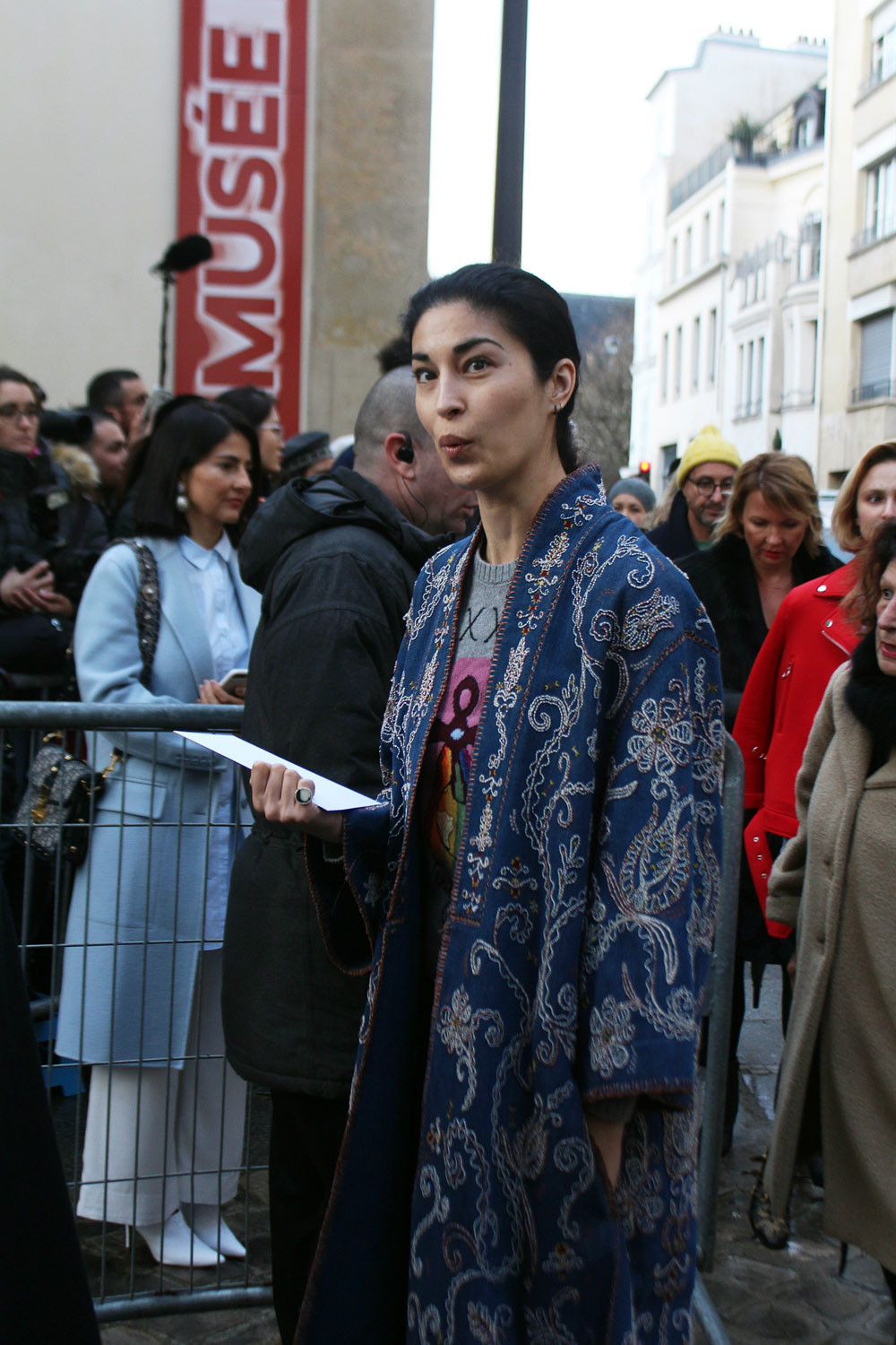 Caroline Issa at Paris Couture Week