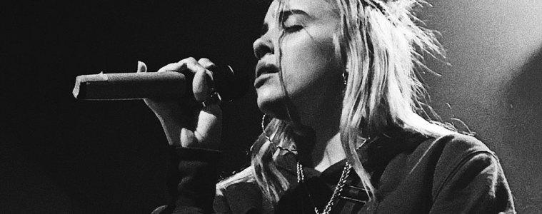 Billie Eilish performing in Brussels