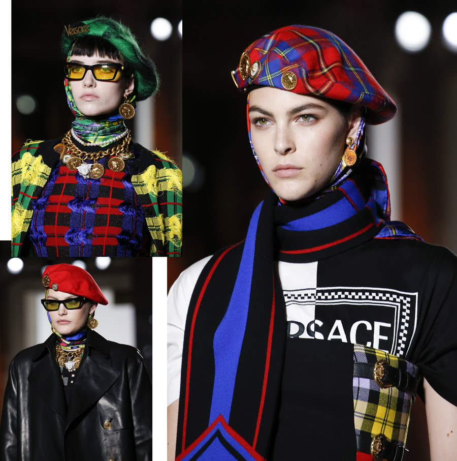 Versace FW18 Ready-to-Wear collection (headwear)