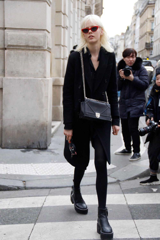 Marjan Jonkman at Paris Fashion Week Fall 2018 (Street Style) - ENFNTS TERRIBLES