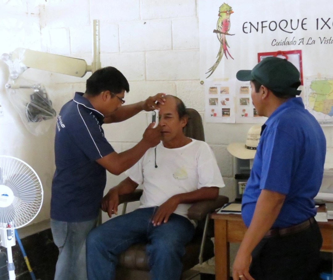 Eye care promoters at work