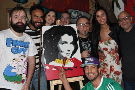 Lorena, Diego Cristo, Dimas Oliveira e comediantes do Stand Up