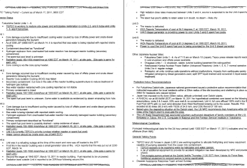 NRC Talking Points - Current as of March 17, 2011, 0600 EDT