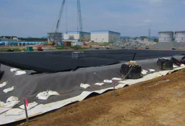 The underground water storage tank installation at Fukushima Daiichi nuclear power station as seen on June 18, 2012
