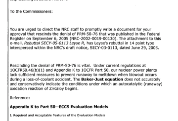 March 17th, 2011 - Rescinding the Denial of PRM-50-76