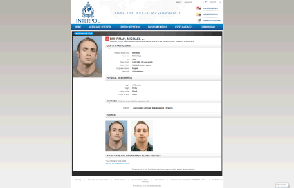 Michael Buhrman was listed as one of Interpol's 150 Most Wanted.