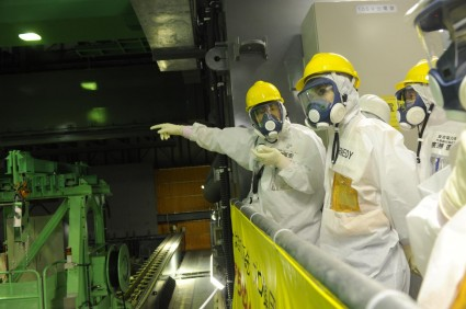 Ambassador Kennedy oversees spent fuel removal operations at the Fukushima Daiichi Reactor 4 spent fuel pool