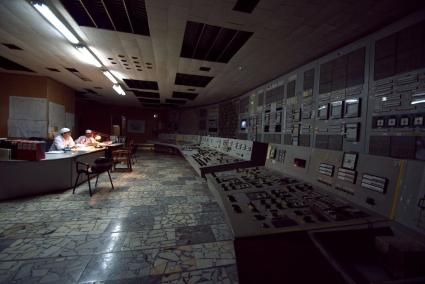 The Unit 2 control room at Chernobyl.