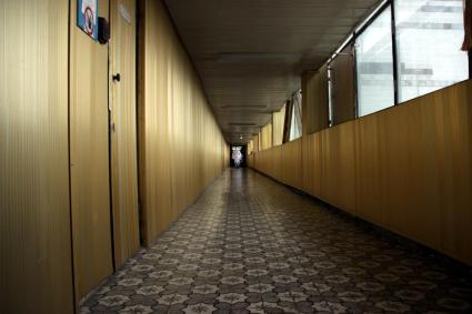 Continuing down the Golden Corridor past the Unit 2 building.
