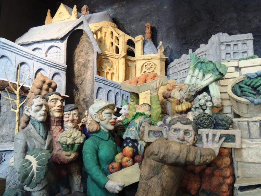Saint Eustache Sculpture. Départ des Halles.