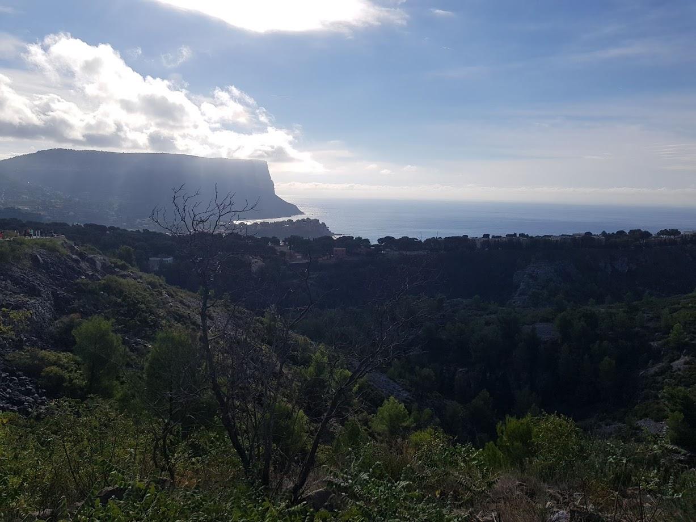 panorama sur le trail de cassis