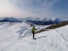 skieur de randonnée à Areches