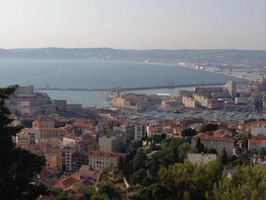 vue de Marseille depuis la bonne mère