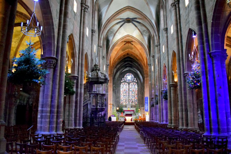 La nef de l'église Saint-Georges de Sélestat © French Moments