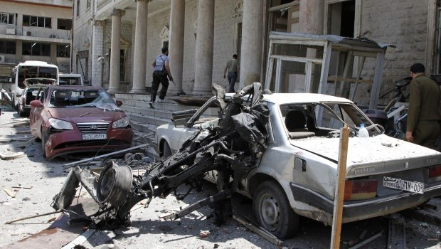 New Bombing Strikes Central Damascus