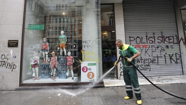 Calm on Turkish streets after days of fierce protests