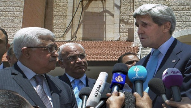 "Final status talks on Israel-Palestine ""within reach,"" says Kerry"