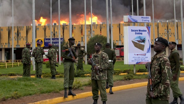 Big fire, slow response: Kenya airport hall gutted