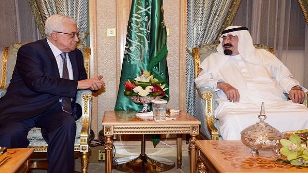 Saudi monarch discusses Palestinian issues with Abbas