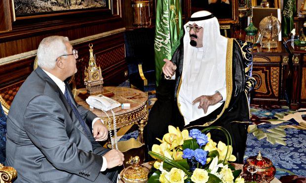King Abdullah affirms Saudi support for Egypt