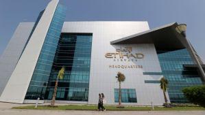 A file picture taken on October 14, 2012 shows the Etihad Airways headquarters in the Emirati capital Abu Dhabi. (AFP Photo/Karim Sahib)