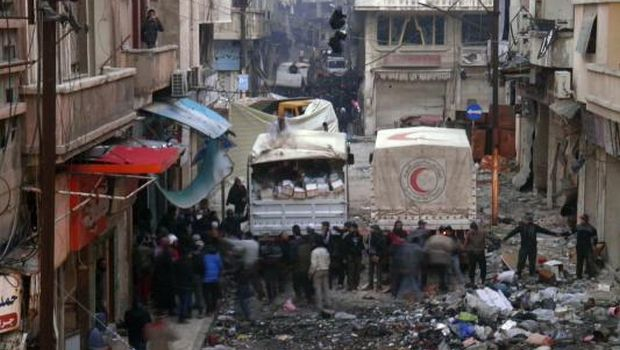 Cease-fire in Syrian city falters, aid halted