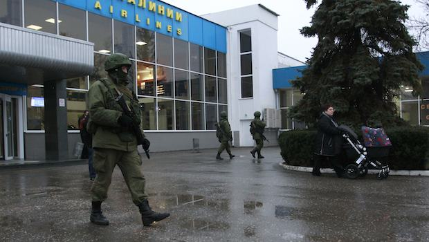 Ukraine says Russian forces block airport