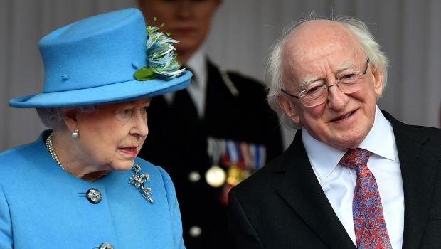 Irish leader guest of queen on state visit to UK
