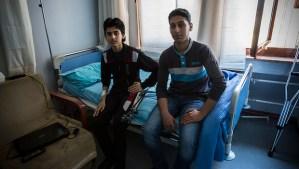 Free Syrian Army fighters in hospital in Turkey. (Asharq Al-Awsat/Hannah Lucinda Smith)