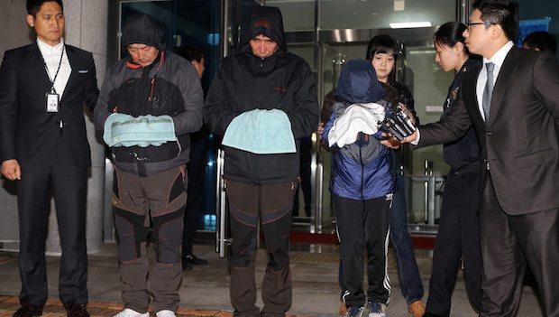 Captain of sunken South Korean ferry, 2 crew arrested