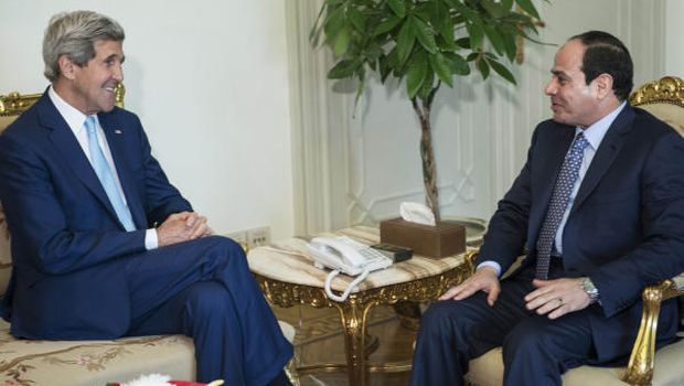 Kerry discusses Middle East security with Sisi in Cairo
