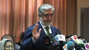 Afghanistan's presidential candidate Abdullah Abdullah speaks during a news conference in Kabul, Afghanistan, Wednesday, June 18, 2014. (AP Photo/Massoud Hossaini)