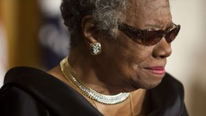 A file picture dated 15 February 2011 shows US writer Maya Angelou in the East Room of the White House during a ceremony honoring her and 14 other Medal of Freedom recipients in Washington DC, USA. Maya Angelou died on 28 May 2014 in her North Carolina home, announced her agent Helen Brann. She was 86. (EPA/JIM LO SCALZO)