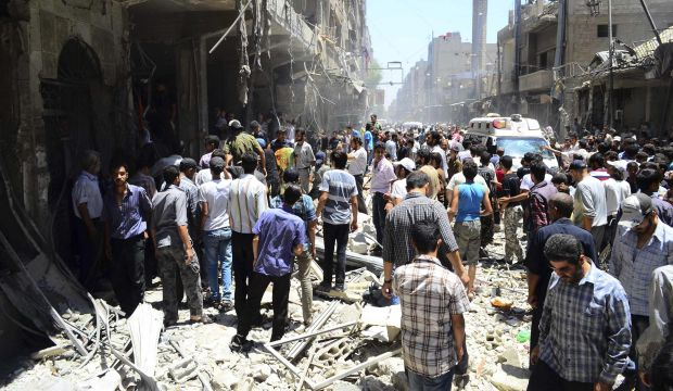 Syrian rebels say ISIS on the run around Damascus