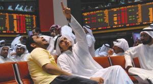 File photo of traders in the Saudi stock exchange. (Asharq Al-Awsat)