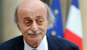 Lebanese Druze leader and Lebanese Progressive Socialist Party chairman Walid Jumblatt speaks to the press after a meeting with the French president at the Elysée Palace in Paris in this June 30, 2014, file photo. (AFP PHOTO/DOMINIQUE FAGET)