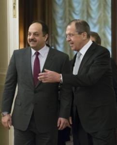 Russian and Qatari foreign ministers