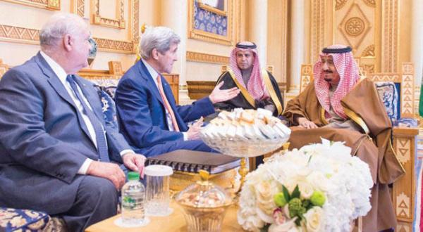 King Salman and US Secretary Discuss Iranian Interference
