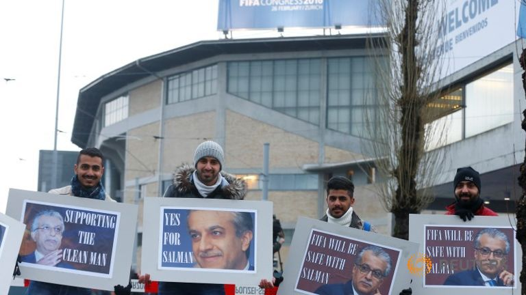 Pro-Salman Supporters Greet Delegates at FIFA Congress