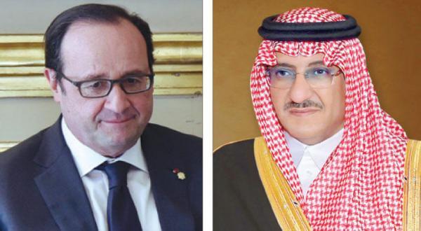 Crown Prince of Saudi Arabia Meets Hollande in Paris